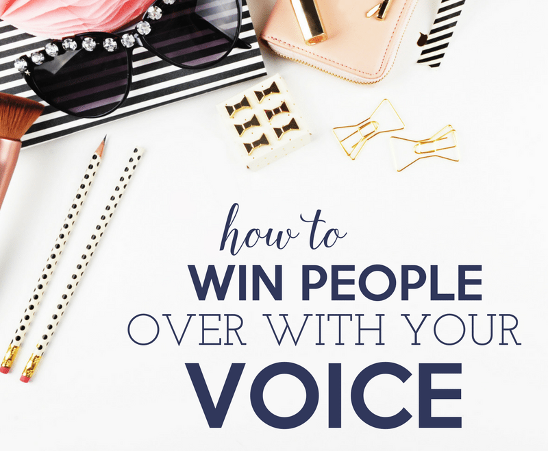 how to win people over with your voice by Heather Quisel