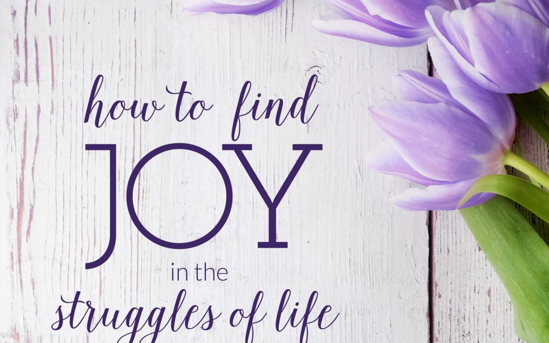 How to find joy in the struggles of life