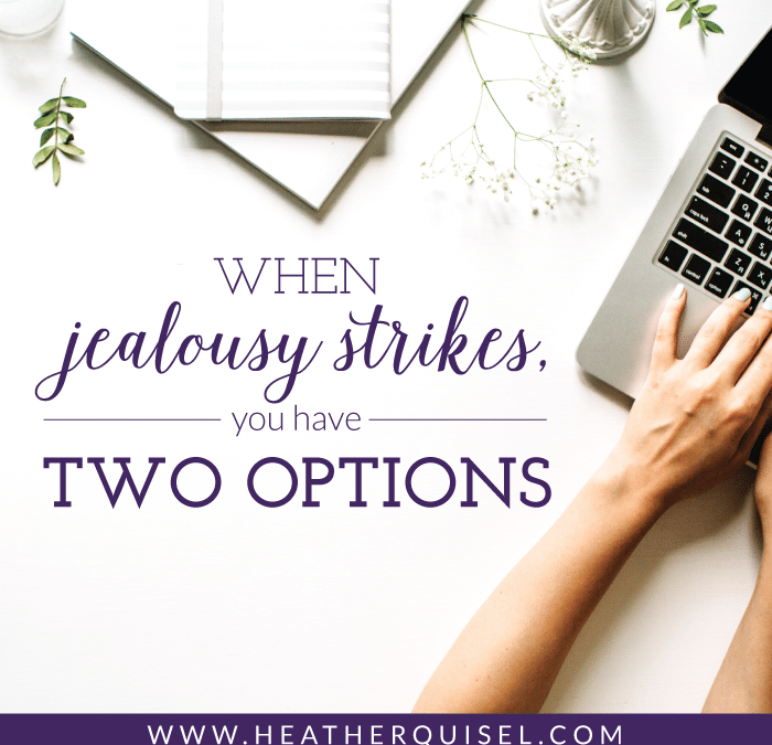 When jealousy strikes, you have two options…