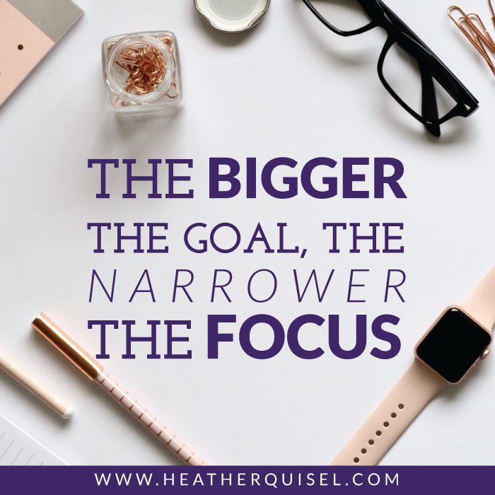 Goal Setting:The Bigger the Goal, the Narrower the Focus
